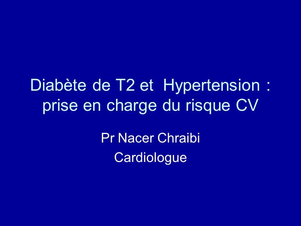 Diabète de T2 et Hypertension : prise en charge du risque CV