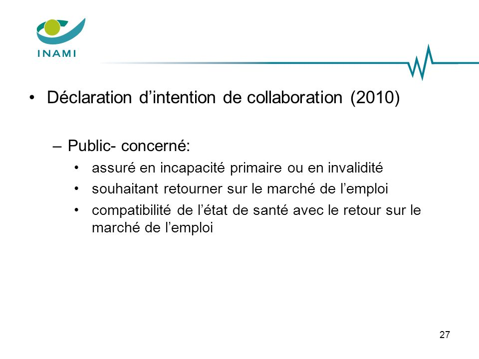 Déclaration d'intention de collaboration (2010)