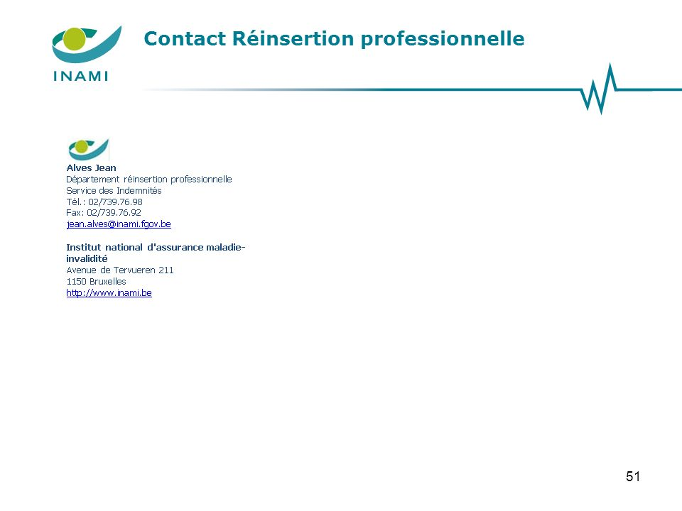 Contact Réinsertion professionnelle