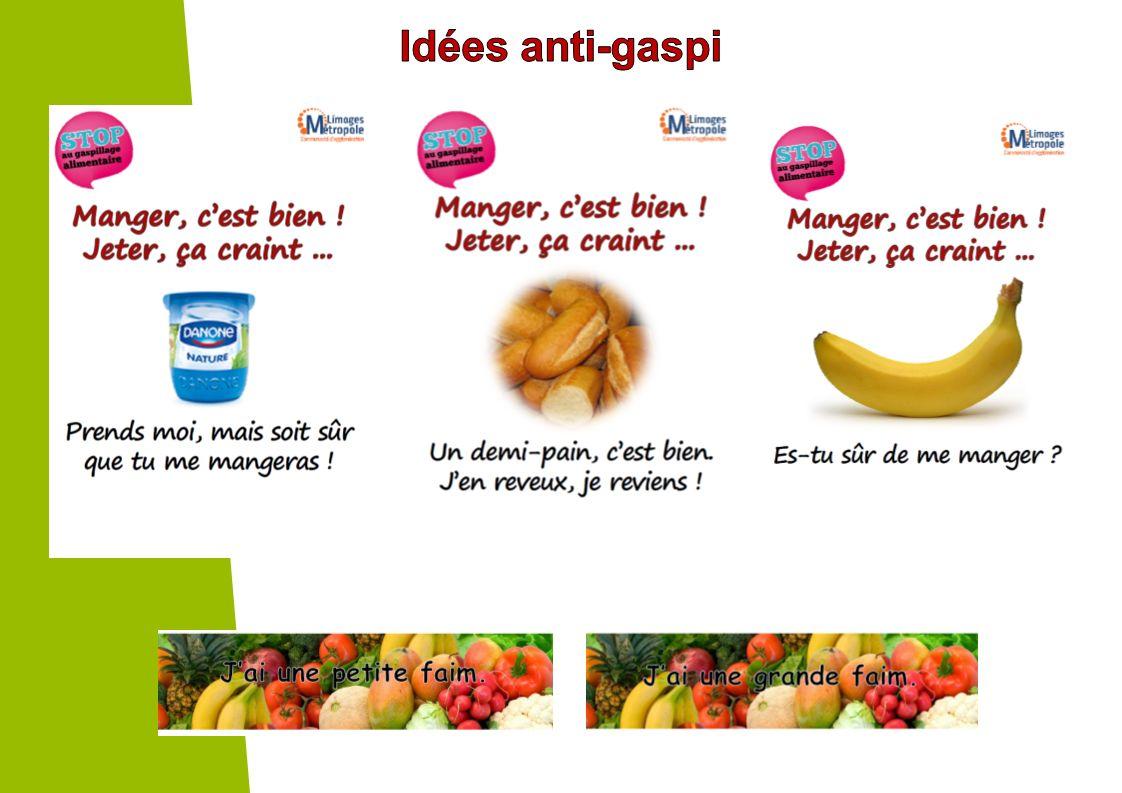 Idées anti-gaspi