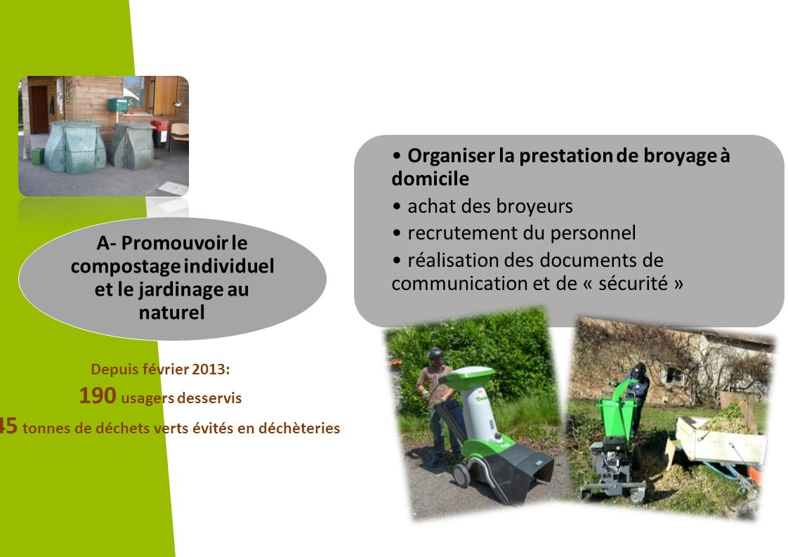 A- Promouvoir le compostage individuel et le jardinage au naturel