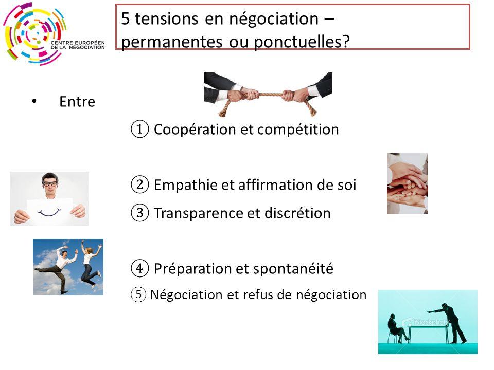 5 tensions en négociation – permanentes ou ponctuelles