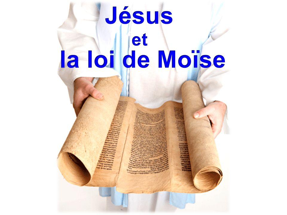 Jésus et la loi de Moïse