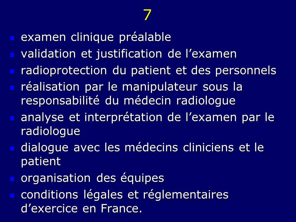 7 examen clinique préalable validation et justification de l'examen