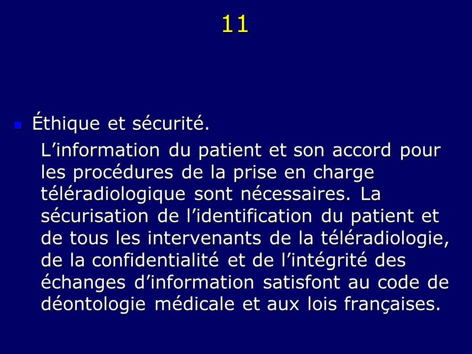 11 Éthique et sécurité.