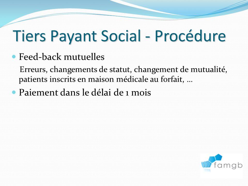 Tiers Payant Social - Procédure