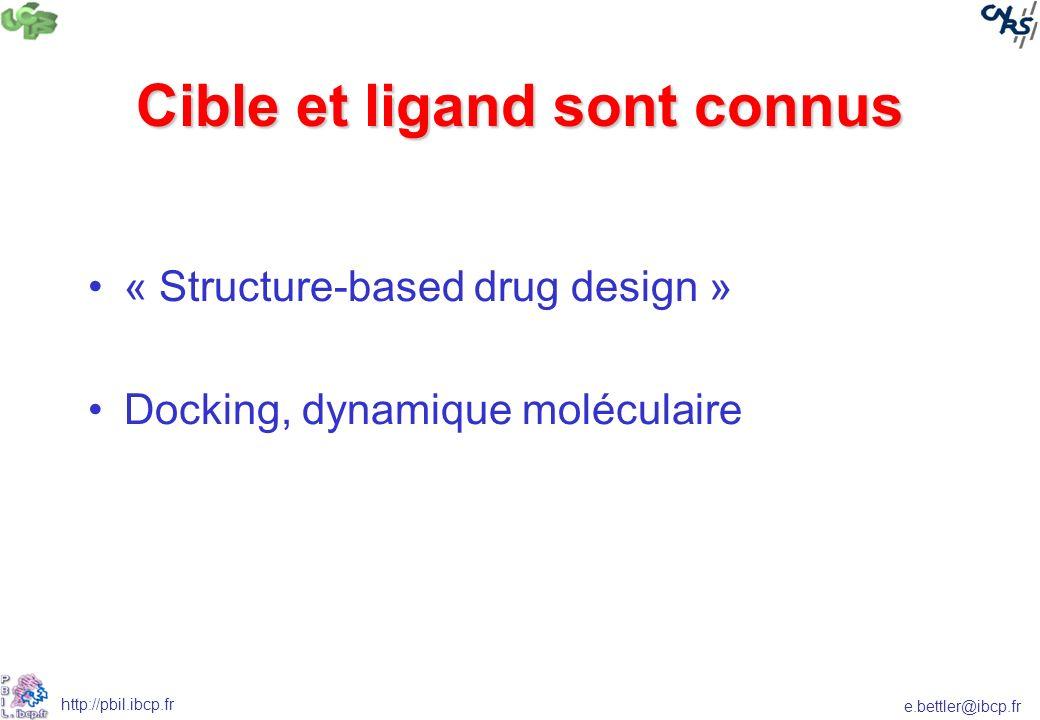 Cible et ligand sont connus
