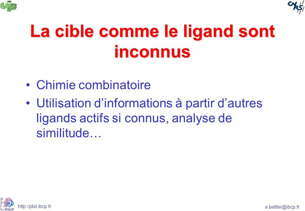 La cible comme le ligand sont inconnus