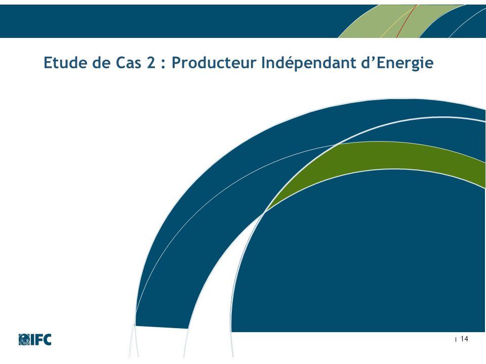 Etude de Cas 2 : Producteur Indépendant d'Energie
