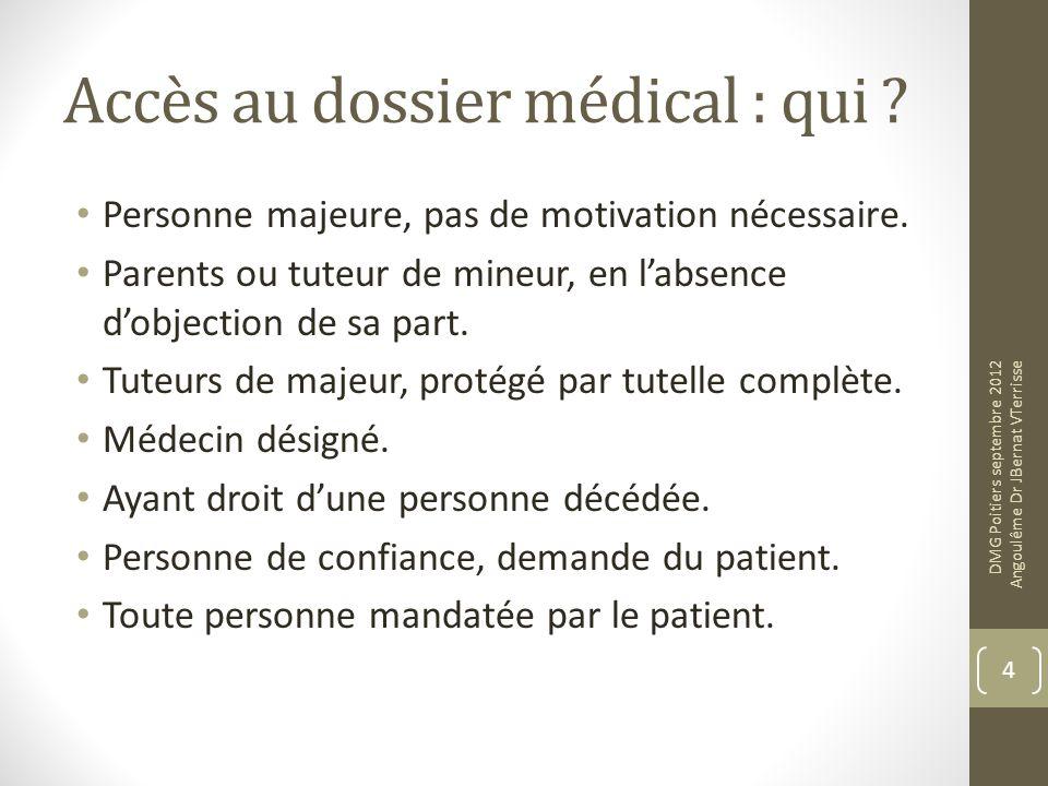 Accès au dossier médical : qui