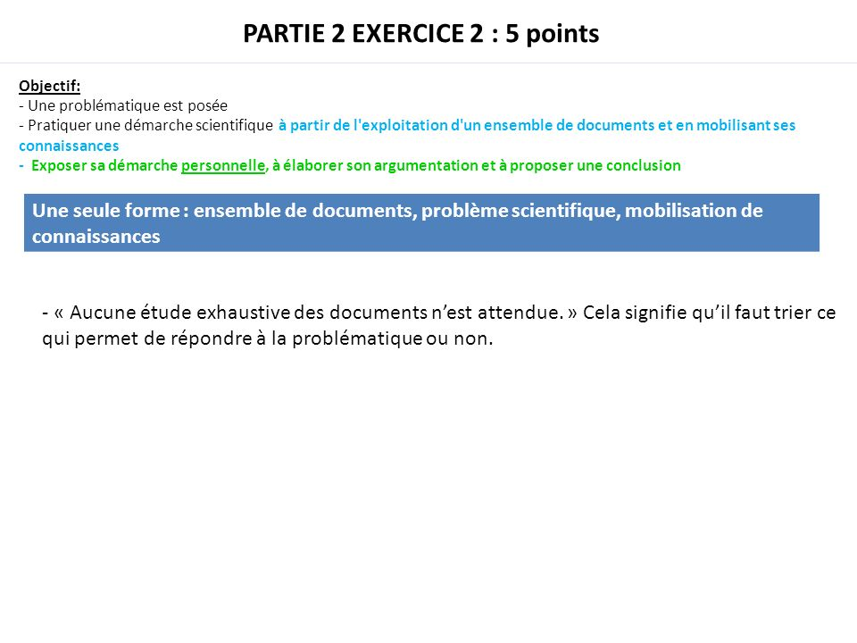 PARTIE 2 EXERCICE 2 : 5 points