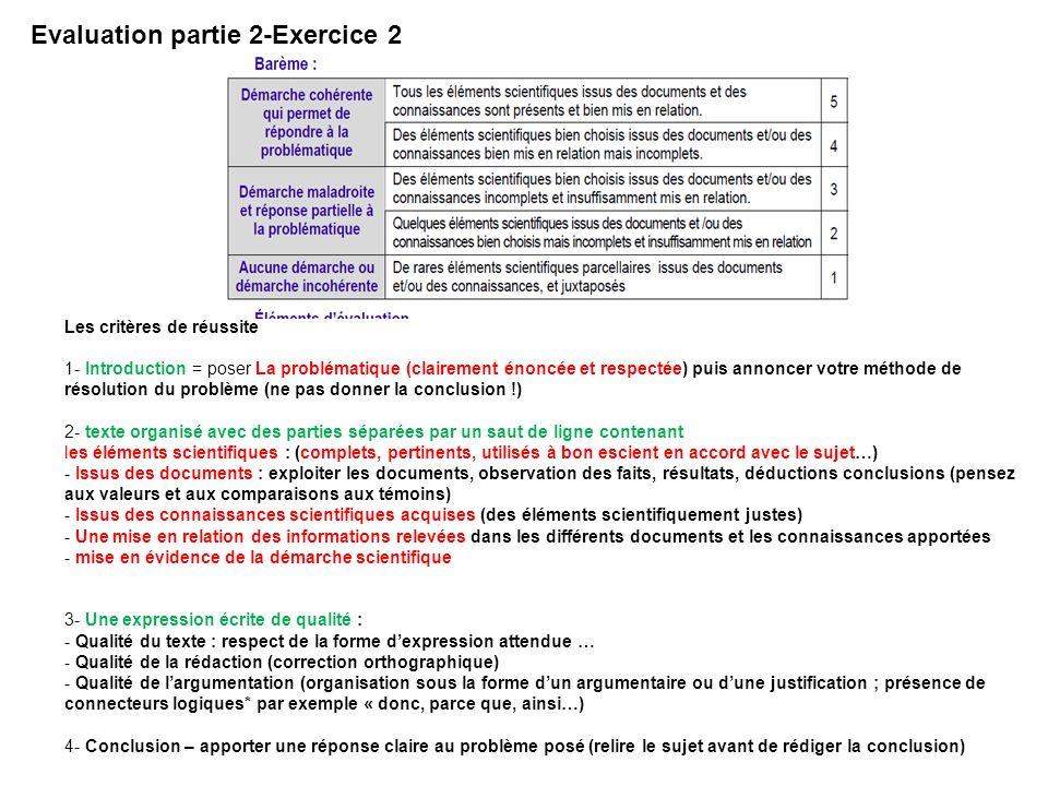 Evaluation partie 2-Exercice 2