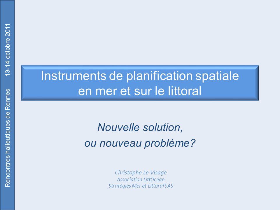 Instruments de planification spatiale en mer et sur le littoral
