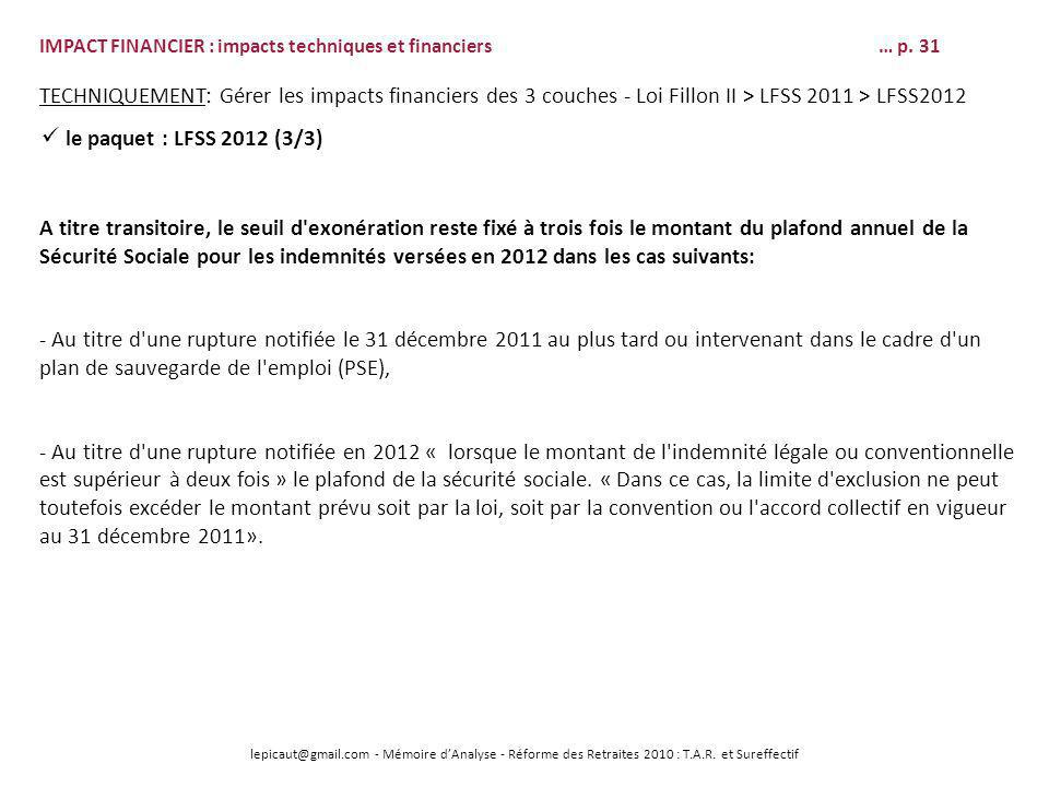 Soutenance de memoire d analyse le 22 mai 2012 version - Plafond annuel de la securite sociale 2012 ...