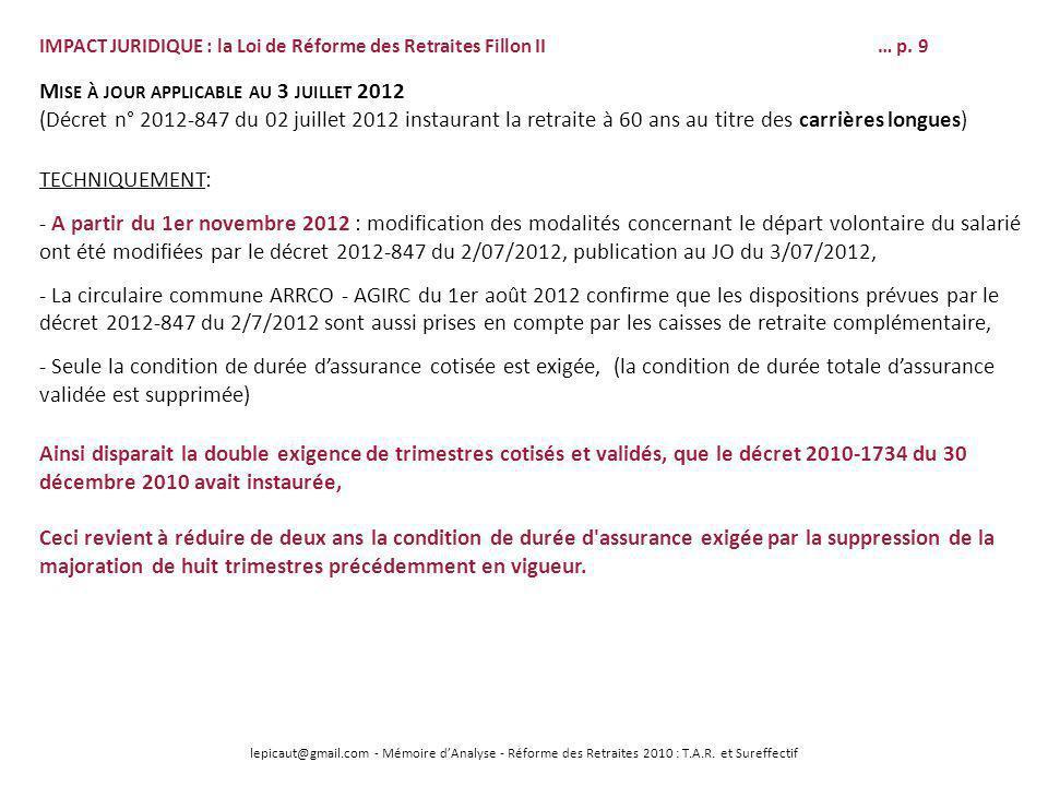 Mise à jour applicable au 3 juillet 2012
