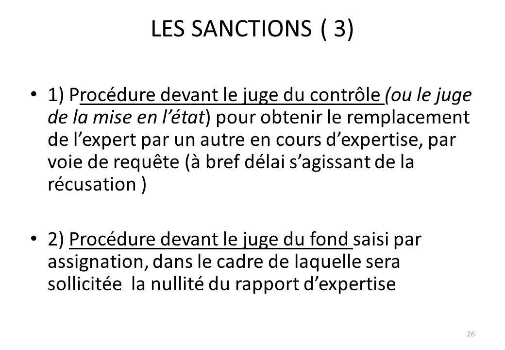 LES SANCTIONS ( 3)