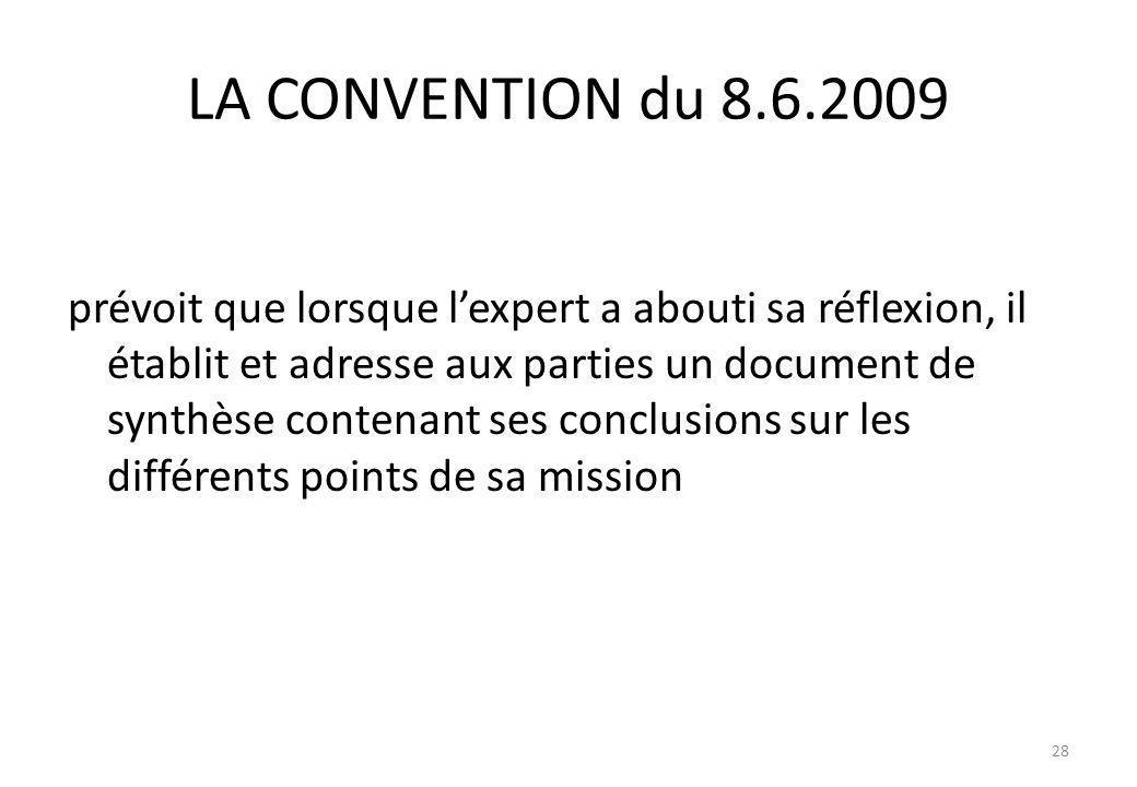 LA CONVENTION du 8.6.2009