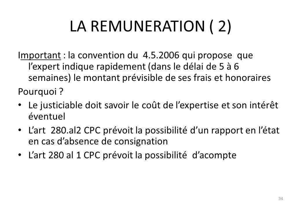 LA REMUNERATION ( 2)