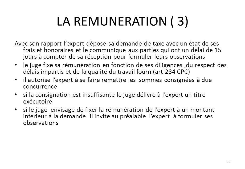 LA REMUNERATION ( 3)
