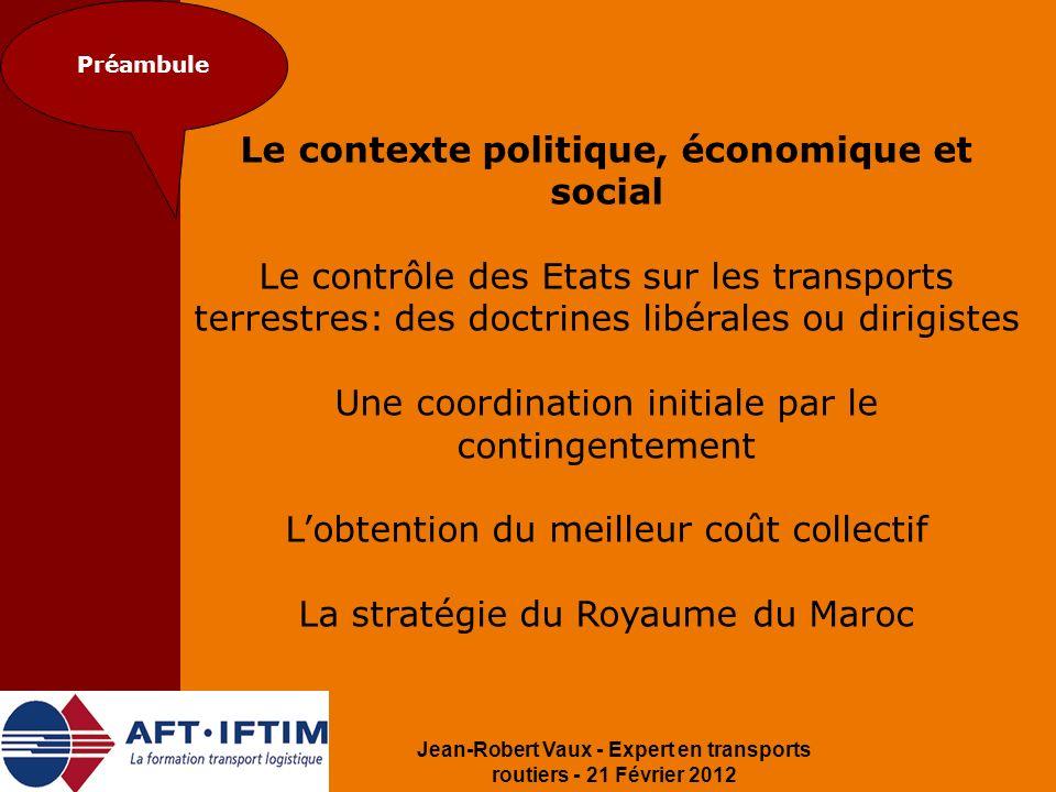 Le contexte politique, économique et social