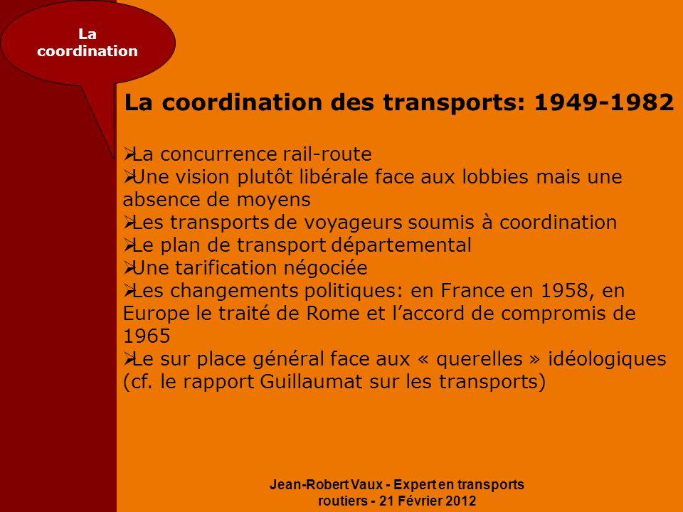 La coordination des transports: 1949-1982