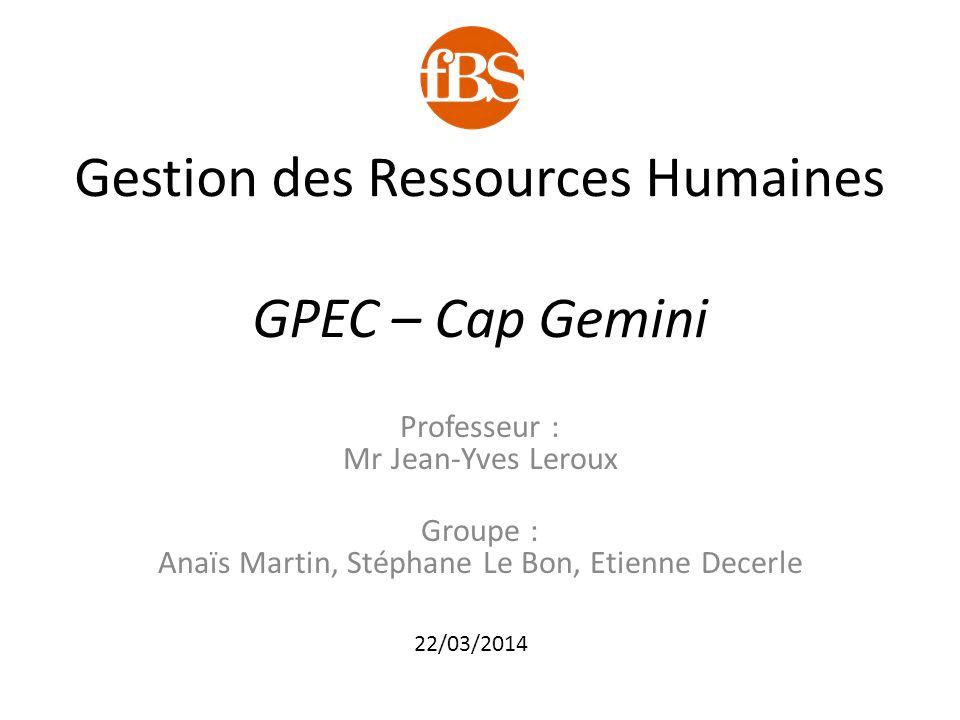Gestion des Ressources Humaines GPEC – Cap Gemini