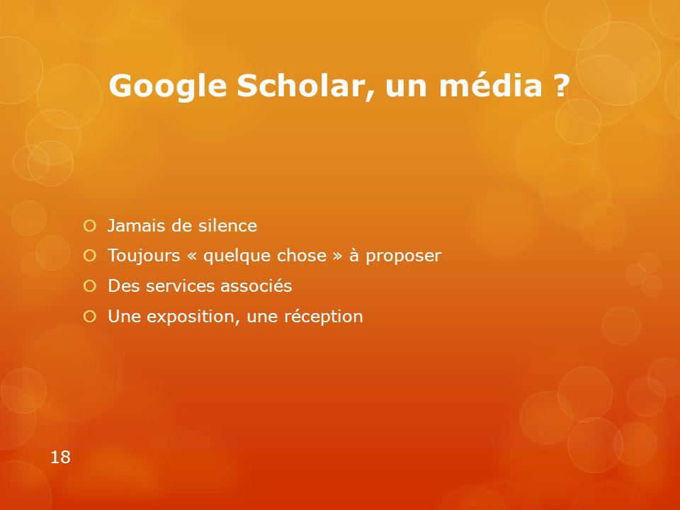 Google Scholar, un média