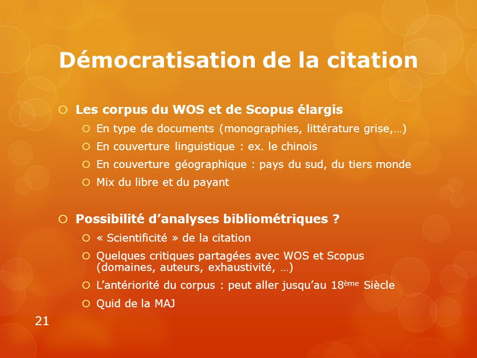 Démocratisation de la citation