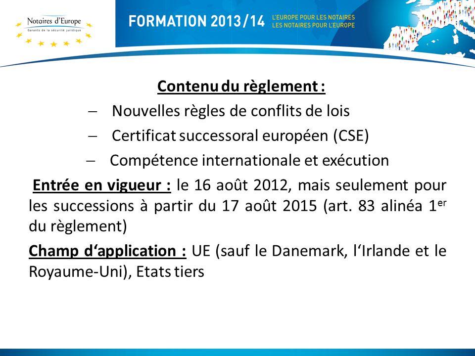 Compétence internationale et exécution