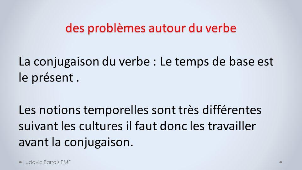 des problèmes autour du verbe