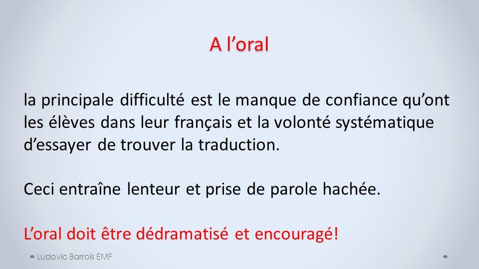 A l'oral