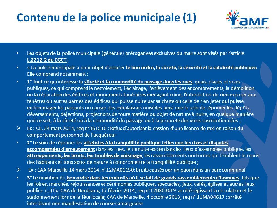 Contenu de la police municipale (1)