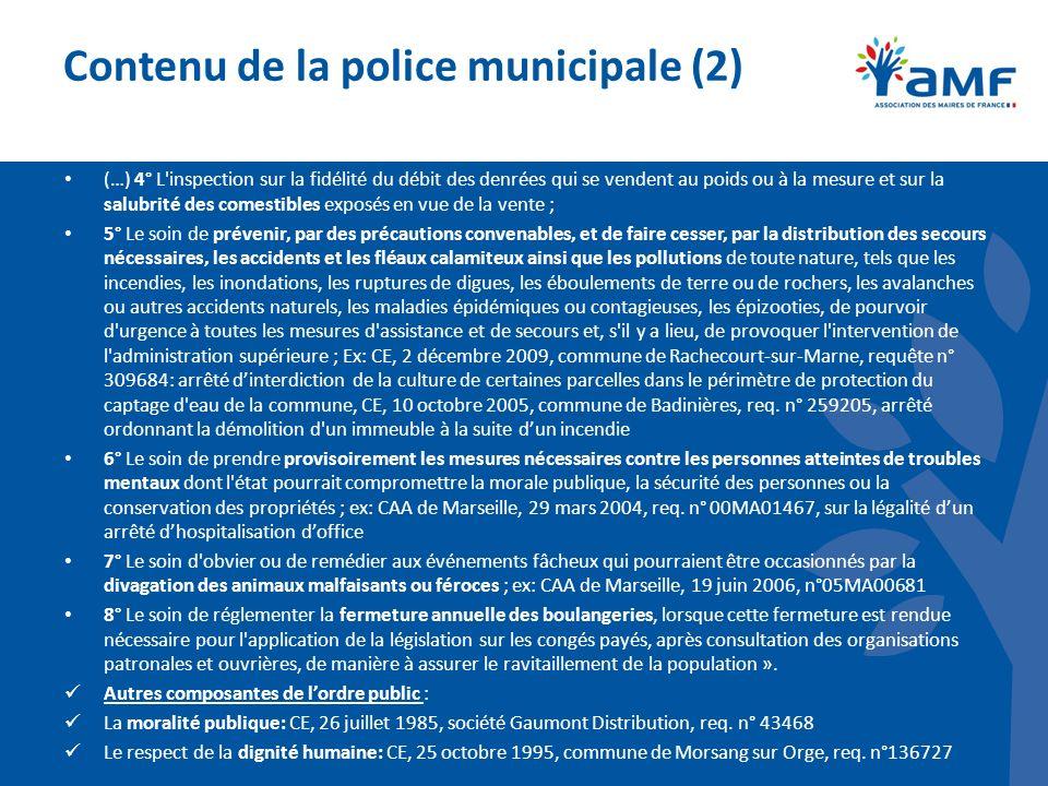Contenu de la police municipale (2)
