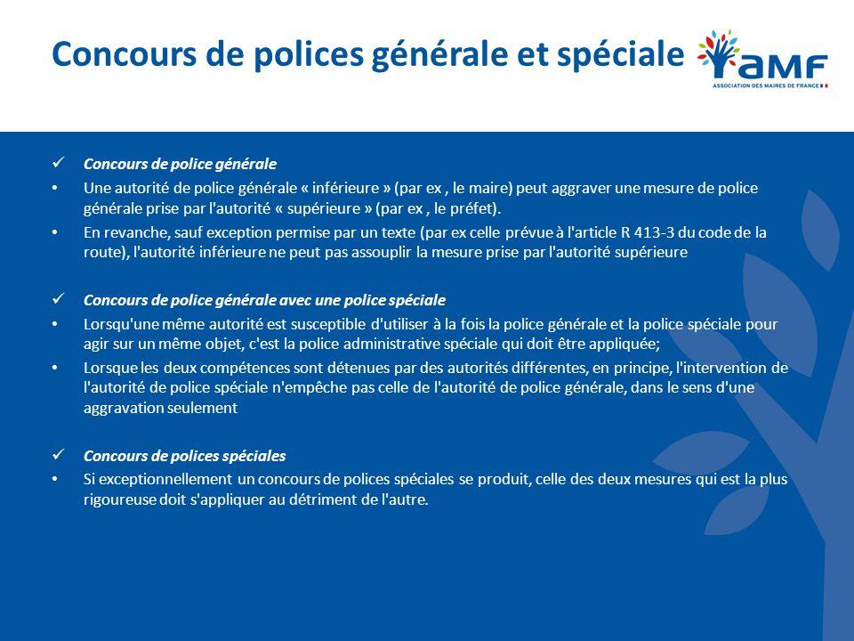 Concours de polices générale et spéciale