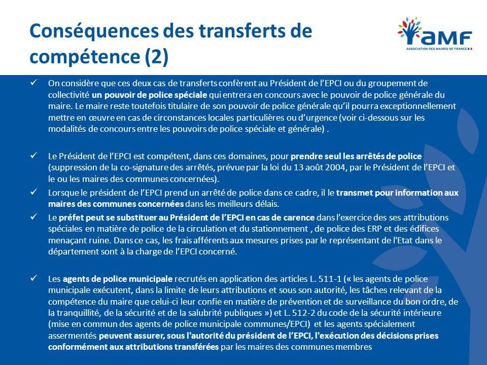 Conséquences des transferts de compétence (2)