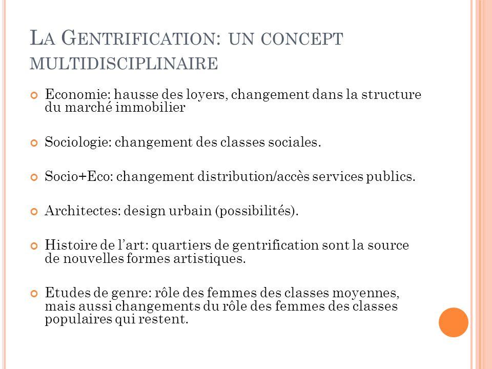 La Gentrification: un concept multidisciplinaire
