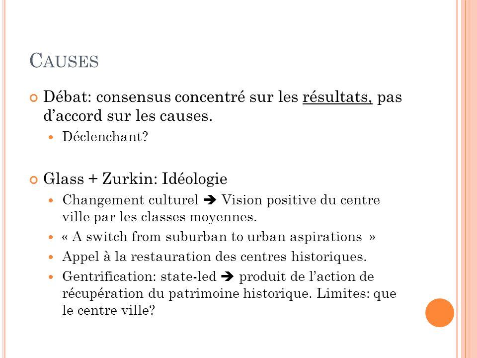Causes Débat: consensus concentré sur les résultats, pas d'accord sur les causes. Déclenchant Glass + Zurkin: Idéologie.