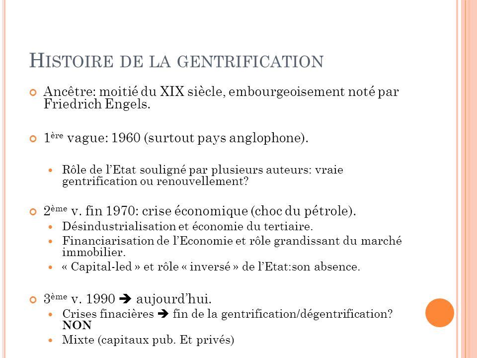 Histoire de la gentrification