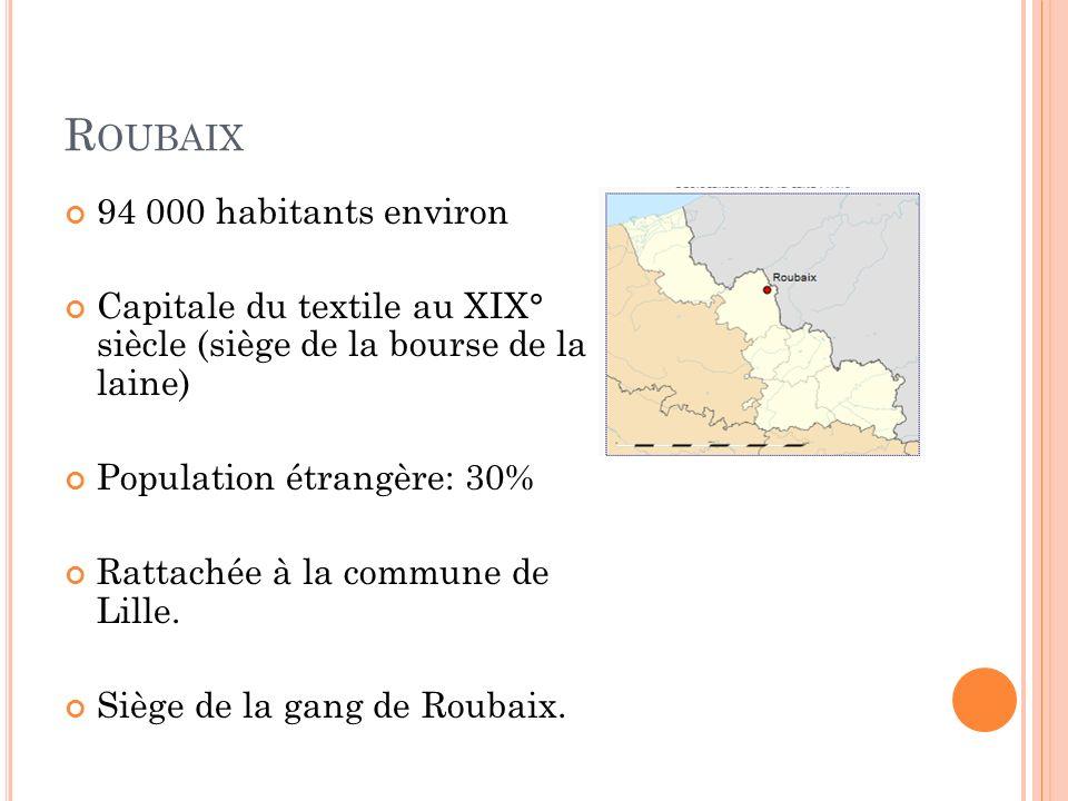 Roubaix 94 000 habitants environ