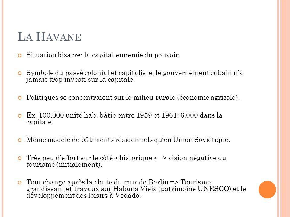 La Havane Situation bizarre: la capital ennemie du pouvoir.