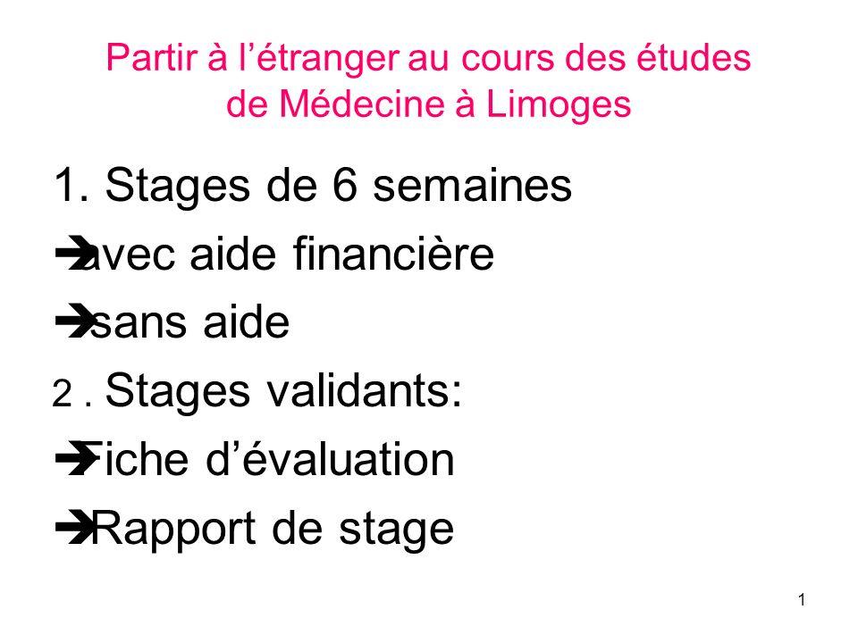 Partir à l'étranger au cours des études de Médecine à Limoges