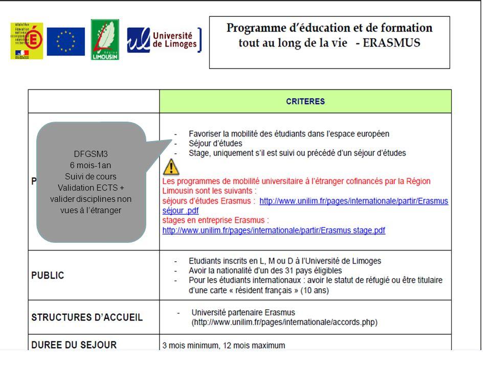 Validation ECTS + valider disciplines non vues à l'étranger