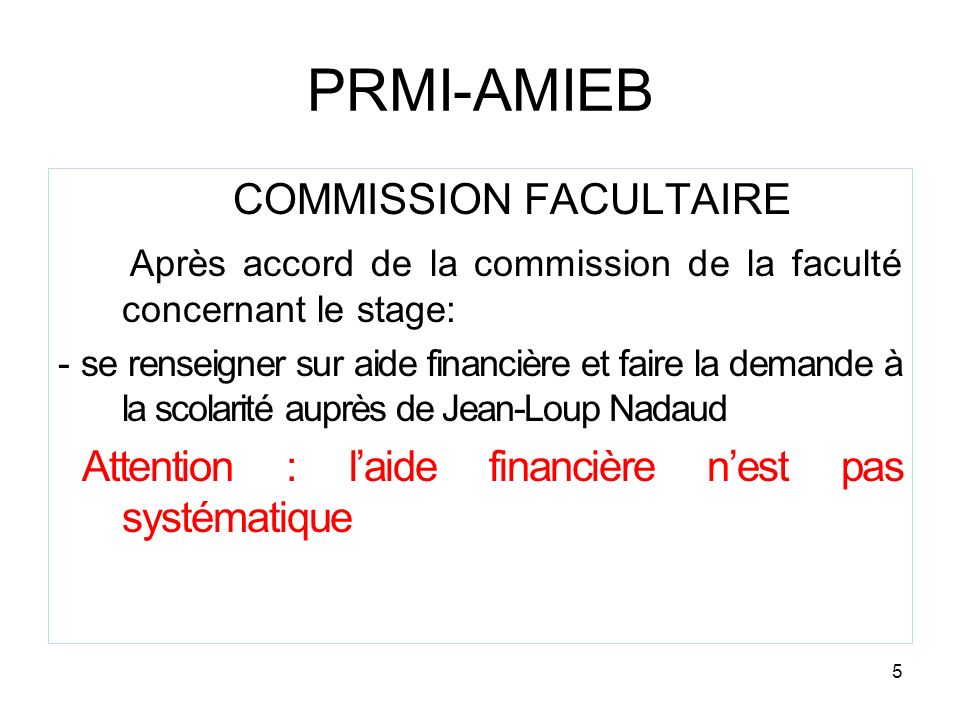 COMMISSION FACULTAIRE
