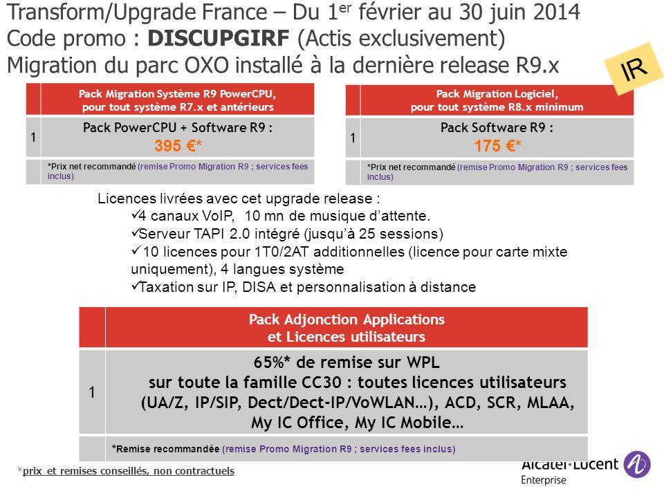 IR Transform/Upgrade France – Du 1er février au 30 juin 2014