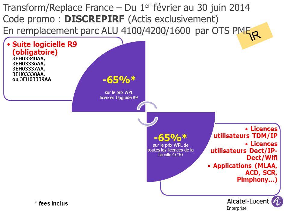 IR Transform/Replace France – Du 1er février au 30 juin 2014
