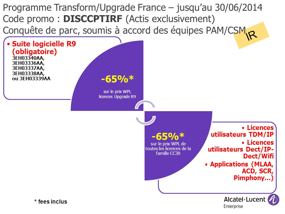 IR Programme Transform/Upgrade France – jusqu'au 30/06/2014