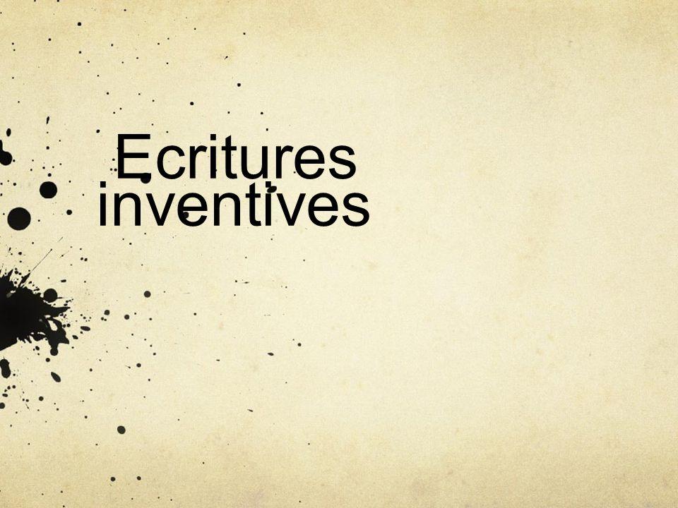Ecritures inventives