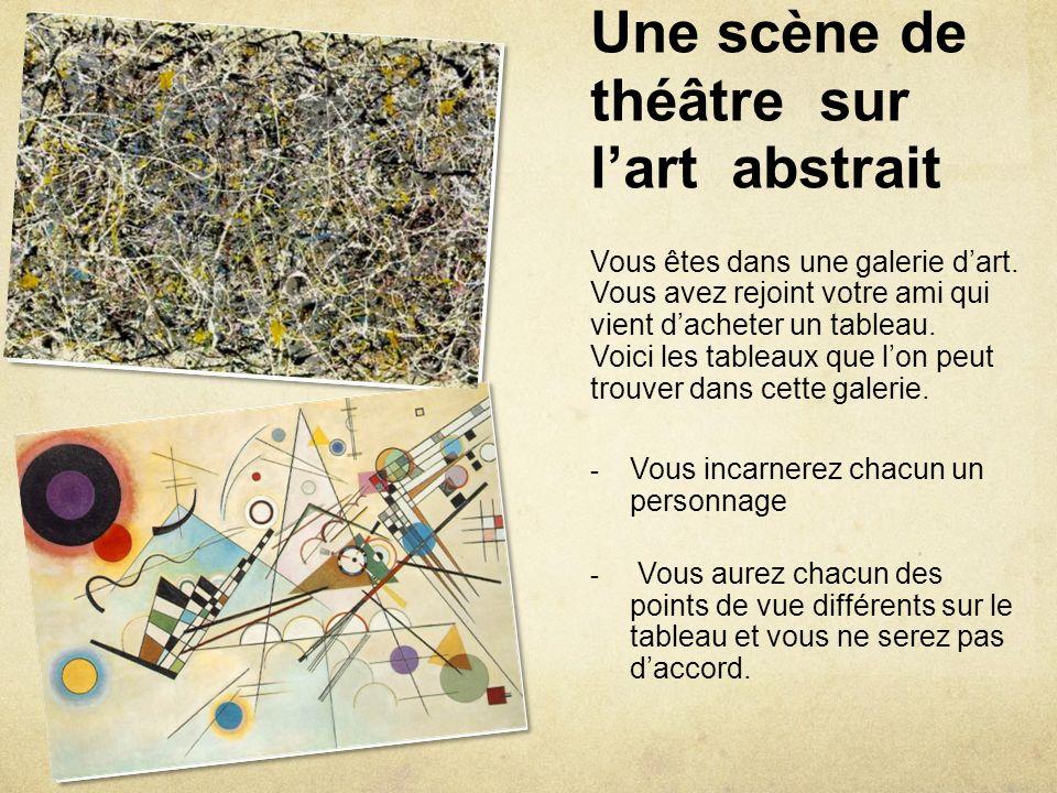 Une scène de théâtre sur l'art abstrait