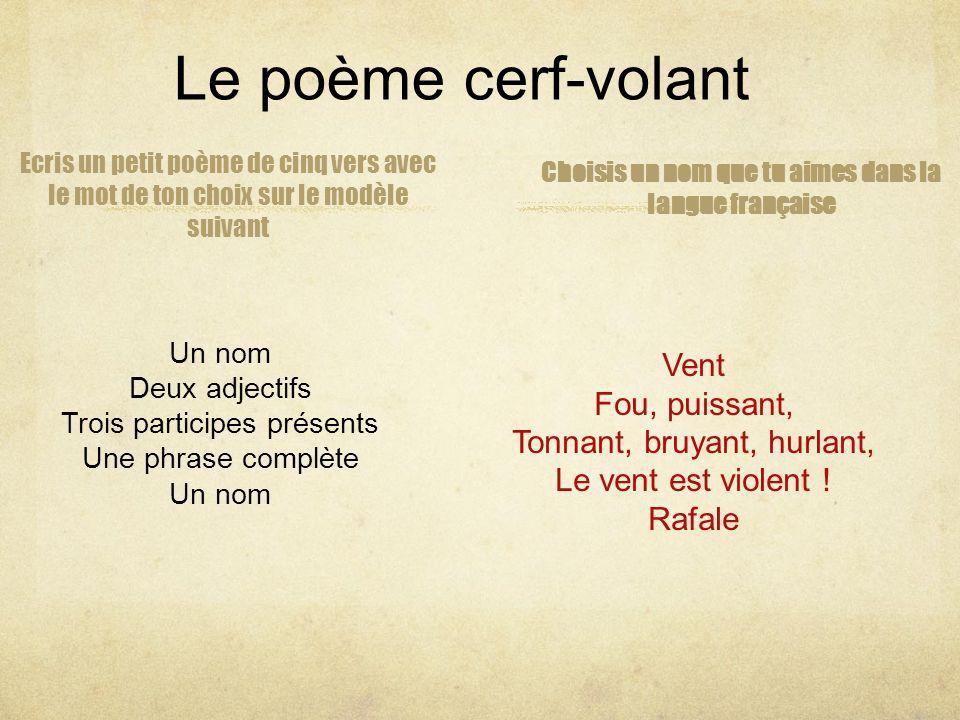 Choisis un nom que tu aimes dans la langue française