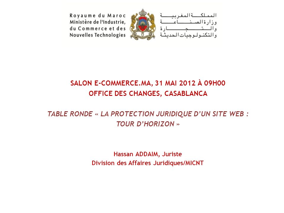 SALON E-COMMERCE.MA, 31 MAI 2012 À 09H00